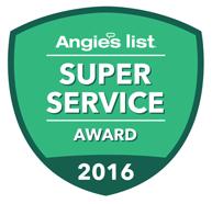 Angie's List Super Service Award 2014, 2015, 2016